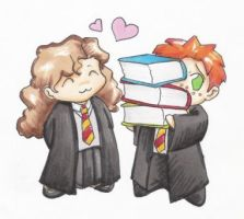 Good Ship Hermione Ron by FlidgetJerome