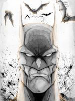Batman and bats by Rexbegonia