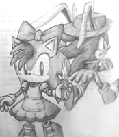 Sonamy Stuff - Amy in wonderland by Zack113