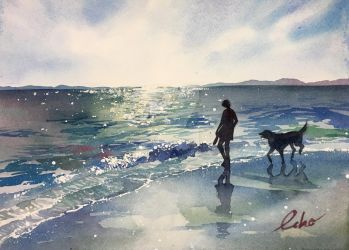 At the sea by echowater