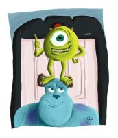 monsters, inc. by fabiosketches
