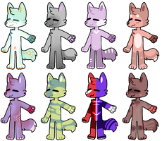 REDUCED anthro adopts - 4/8 OPEN by OakAdopts