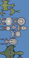 Star Trek Ships by FinalAffliction