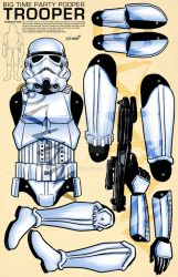 StormTrooper Paper Puppet by Forty-Nine