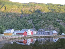 Norway Village Reflection 3 by RozenGT