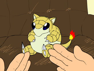Poundland Sandshrew by PsychoPop