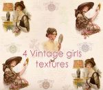 Vintage girls textures by mercuryZ