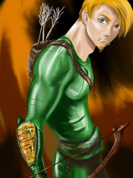 Young Green Arrow by dogzandglue