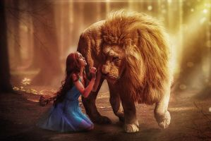 Lion and Girl by erkanozan