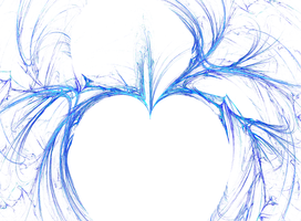 Fractal Blue Heart by Anerial-stock