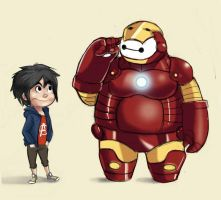 Hiro and iron bay max by Valesketch