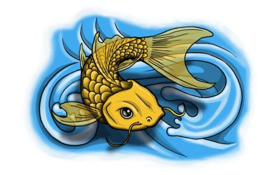 Coi - Carp Tattoo flash by spunkymonkey