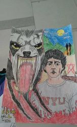 An american werewolf in London colored by ultra43