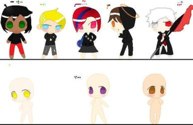 Chibi Power Characters by TeamTeleporters