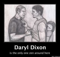 Shane and Daryl fighting by gagambo