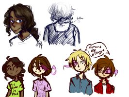 Human!Unity/Onity AU sketches by MotherofOnity