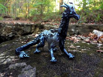 Blue Dragon in the Woods by TheSilverWyrm