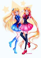 Minako and Usagi - POP IDOL by Alex-Asakura