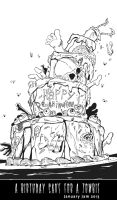 January 3, 2013 - A Birthday Cake for a Zombie by KileyBeecher