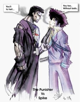 The Punisher vs Spike by The13thbastard