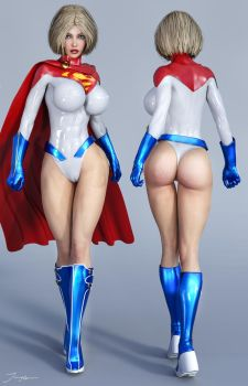 Character Reference Power Girl v3 by tiangtam