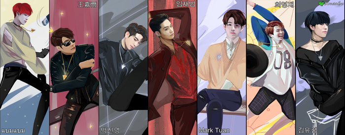 GOT7 by monzaibu