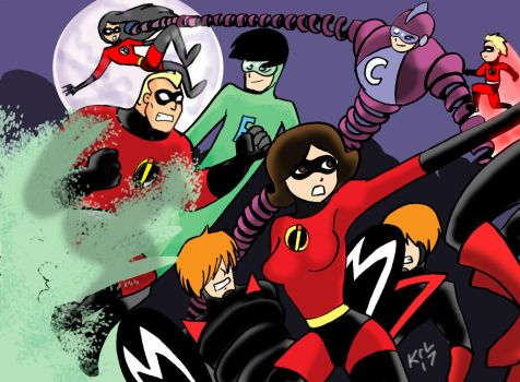 Incredibles vs the Impossibles by Koku-chan
