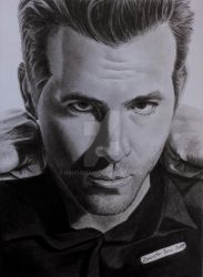 Ryan Reynolds by hand2draw