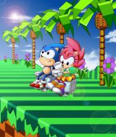 Sonic and Amy: a little gift 2.0 by Pu3ppchen