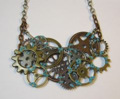 An Arrangement of Cogs - Steampunk, Aqua by DanielleDucrest