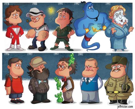 The Evolution of Robin Williams by JeffVictor