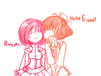 Penny and Ruby by Lambentworld