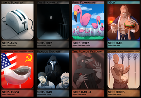 SCP Cards 1 by Burdrehnar