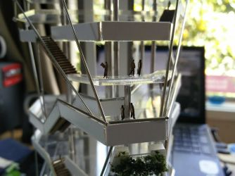 Architectural Model close up view by JackXYZ