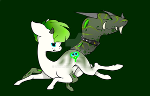 Anti-Septiceye based tailmouth pony NEED a name by Darumemay