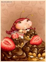 Cake diet fairy-bug by LiaSelina