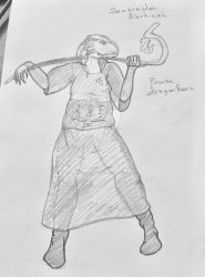 Bronze dragon-born sorcerer sketch draft by MetalgearTwilight01