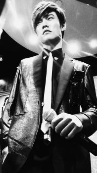 Jay Chou in Black and White by Jeniichan