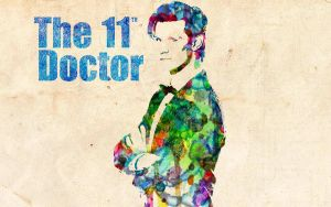 11th Doctor: Watercolor by ElijahVD