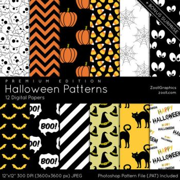 Halloween Patterns - Premium Edition by MysticEmma