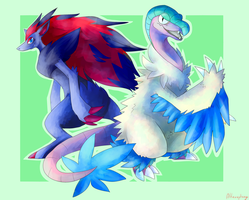 Zoroark and Archeops