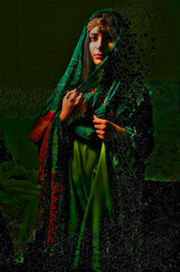 Woman in Green by khanf