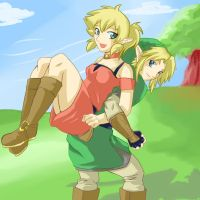 tsume and link by HylianGuardians