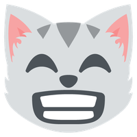 1327-grinning-cat-face-with-smiling-eyes by MisteriosaDuelista