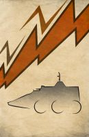 Movie Car Racing Posters - MegaForce Tac-Com by Boomerjinks