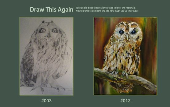 Draw this owl again by EvelineVdp