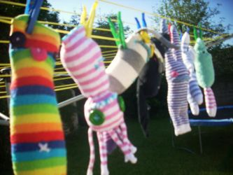 Sock Monsters...Made to Order by Ellie-Gray