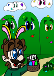 Easter Luigi (Re-Redrawn) by CrazyStarlightRene01
