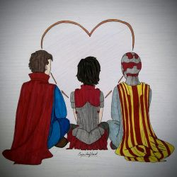 The loners' club (Strange, Sif and Vision) by LaChicaRara