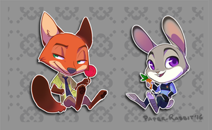 Chibi Time! - Zootopia by Paper-Rabbit
